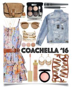 """Coachella '16"" by ittie-kittie ❤ liked on Polyvore featuring GUESS by Marciano, Express, MICHAEL Michael Kors, MAC Cosmetics, Chanel, Yves Saint Laurent, AERIN, Panacea, Deborah Lippmann and coachella"