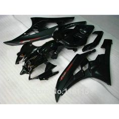 288.00$  Watch here - http://ai65l.worlditems.win/all/product.php?id=32623699319 - Injection molding full fairing kit for YAMAHA YZF-R6 2006 2007 all black bodywork fairings set YZF R6  06 07 RF29