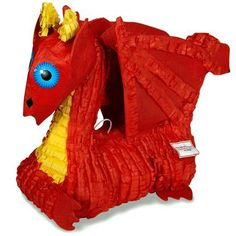"The kids will love to try and bust open this Red Dragon 19"""" pinata! Includes 1 pinata that measures approximately 19"""". The pinata includes a removable sticker to mark where fillers should be inserte"