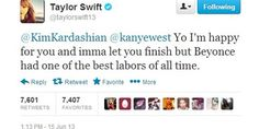 """Taylor Swifts"" Kanye West baby-tweet :)"