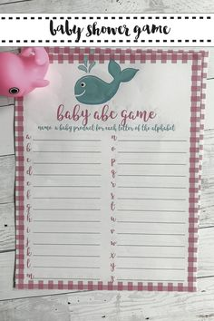 Print up these FREE printable Whale Baby Shower Game from Everyday Party Magazine #WhaleBabyShower #BabyShowerGames #FreePrintables