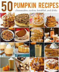 The mother of all Pumpkin roundups - pumpkin for breakfast, pumpkin for dessert, pumpkin, pumpkin, pumpkin!