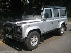 LAND ROVER DEFENDER 110 TD5 STATION WAGON COUNTY PACK 9 SEAT SILVER BLACK ALLOYS | eBay