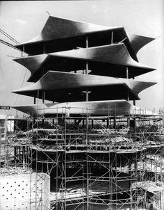 #underconstruction Laboratorios Jorba (La Pagoda) 1968 (destruida 1999) Madrid | Miguel Fisac