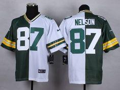 c291bb5cf Green Bay Packers 87 Nelson Green white Nike Elite Split 2015 Jerseycheap nfl  jerseys
