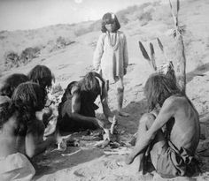1899 Hopi native american men and a boy during the Corn Ceremony;
