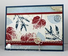 Stampin' Up! Color Coached Leaves