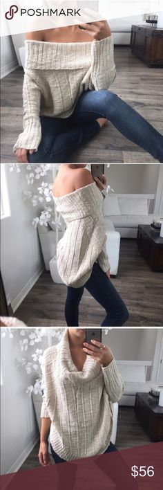 Beige Cable Carly Knit Sweater Brand new w tag! I got both colours so decided to keep the black and selling this beige. Photos are the beautiful @itselaine. Please check out her closet! Price is firm. Offers will be ignored. ekAttire Sweaters