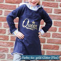 Queen gold glitter Bügelbild  Made by Frau S.