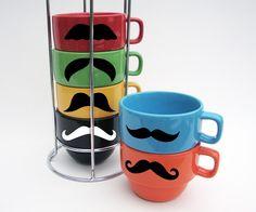 Mustache Coffee Mugs!