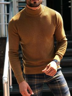 Men'S Solid Color High-Collar Knitted Sweater – joymanmall sweaters with skirts sweaters for men sweaters for men fashion sweaters for men winter sweaters for men cardigan Source by joymanmall outfits men Best Mens Fashion, Men's Fashion, Fashion Boots, Fashion Ideas, Older Mens Fashion, Chicago Fashion, Fashion Tape, Fashion Trends, Fashion Outfits