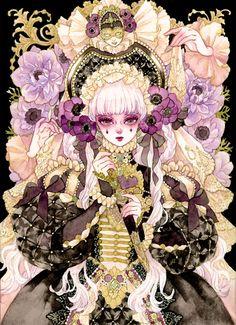Dark Alice In Wonderland, Kitty Images, Goth Art, Angelic Pretty, Historical Art, Art Poses, Pretty Art, Color Script, Art Inspo