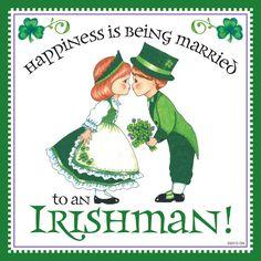 """Irish Gift For Women Irish Tile """"Married to Irish"""""""