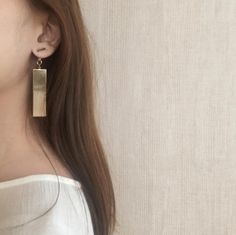 Two-way sleek bar earrings - The Hexad Jewelry