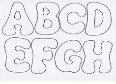 Felt or Fabric Letters. Alphabet Templates, Stencil Templates, Alphabet For Kids, Alphabet And Numbers, Felt Name, Felt Patterns, Felt Fabric, Felt Crafts, Template