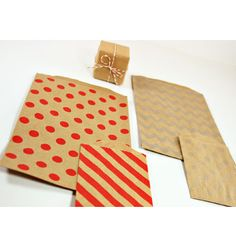 New Red on Kraft Bitty Bags and a Giveaway