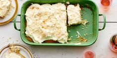 This moist and fluffy dessert uses toasted coconut, coconut milk, and coconut oil to infuse as much flavor as possible into the cake.