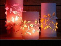 Hervorragend Laternen Basteln Aus Weißem Papier, Blumen, Tischdeko