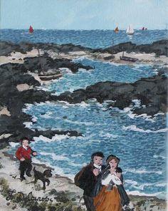 """Fabienne Delacroix : La côte sauvage, 2011 // Acrylic On Canvas, 7"""" x 5½"""""""