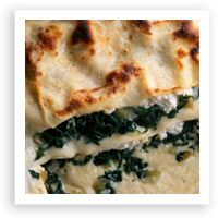 Low Fat Spinach Lasagna by @ceciny