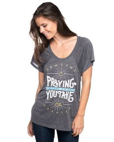 Someone Is Praying Flowy Raglan – Sevenly