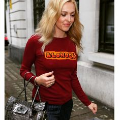Bella Freud jumper of love Fearne Cotton, Bella Freud, Cotton Jumper, Celebs, Celebrities, Cotton Style, Christmas Sweaters, High Fashion, Celebrity Style