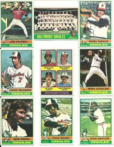 1976 Topps VINTAGE ORIOLES 25 cards team set 3RCs! B.ROBINSON PALMER Belanger  #BaltimoreOrioles