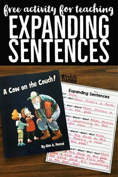 This book is perfect for teaching students to ask questions and expand sentences! Love the free printable, too!