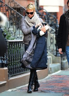 Charlize Theron Bundles Up on the Boston Set of Hatfields & McCoys