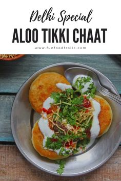 Aloo Tikki is hard to give a miss if you are on tour to devour Indian Street Food, especially in Delhi. This potato tikki is every potato lover's dream come true via funfoodfrolic.com #indianrecipes #potatorecipes #snackrecipes