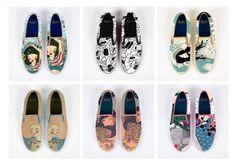 my conceptual six Vans shoes illustrations. #vans #shoes #illustration #gizemvural