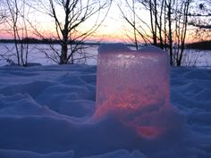 Finnish Christmas, ice lantern
