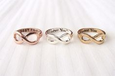 Infinity Ring - Gold, Silver and Rose Gold - Rosa Vila Jewelry - 2