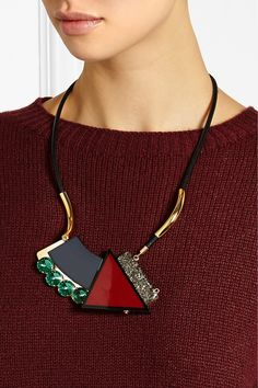 Marni Gold-plated, pyrite and resin necklace NET-A-PORTER.COM