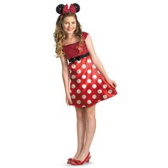 Cute Minnie Mouse. Halloween Costumes for Tween Girls