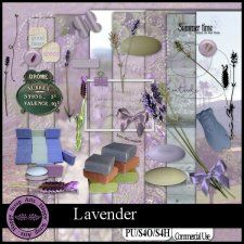 Exclusive Lavendar kit by Happy Scrap Art #CUdigitals cudigitals.com cu commercial digital scrap #digiscrap scrapbook graphics