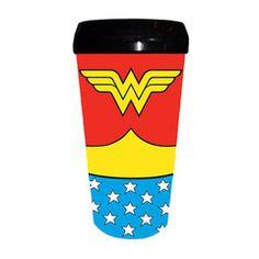 Wonder Woman Costume Travel Mug