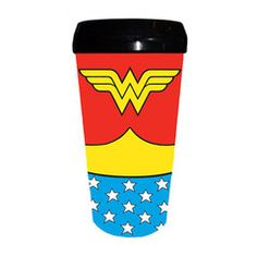 Wonder Woman Costume Travel Mug