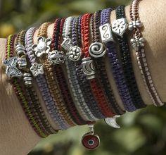 handmade bracelets.