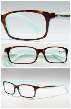 Aqua & tortoise shell Ralph by Ralph Lauren glasses.  Two of my favourites!