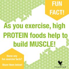As you exercise, high protein foods help to develop muscle. When your digestive system breaks down protein it turns into amino acids which helps build muscle in your body. High Protein Recipes, Protein Foods, Protein Shop, Heath Lifestyle, Clean9, Fitness Facts, Workout Fitness, 24 Day Challenge, Nutritional Cleansing