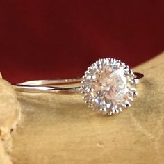 1 ct Zircon Solitaire Sterling Silver Engagement Ring SD SD9RC105513. Starting at $1
