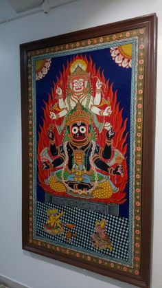 Lord krishna paintings Inside krishna temple .