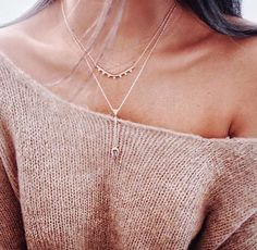 The rose gold Tiered Lariat Necklace from Stella and Dot! Shop and purchase here: www.stelladot.com/nikkidotti