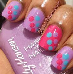 Girly polka dots