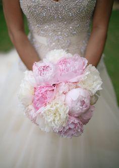 Light Pink and White Bridal Bouquet | Cristina Elena Photography | TheKnot.com
