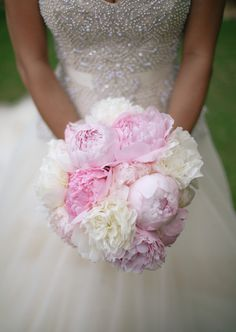 Light Pink and White Bridal Bouquet | Cristina Elena Photography | TheKnot.com