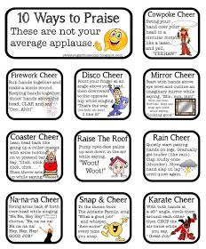 Whole Brain Teaching: Woo! Alternatives More cute cheers to use with Kagan Structures Classroom Cheers, Classroom Behavior, Future Classroom, School Classroom, Classroom Ideas, Classroom Incentives, Seasonal Classrooms, French Classroom, Spanish Classroom