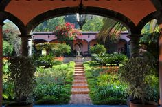 Amazing courtyard in Colima, Mexico.