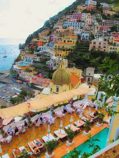 Positano Amalfi Coast, Italy. This is the view I would enjoy while having breakfast!!!